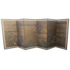 Large Japanese Six-Panel Screen