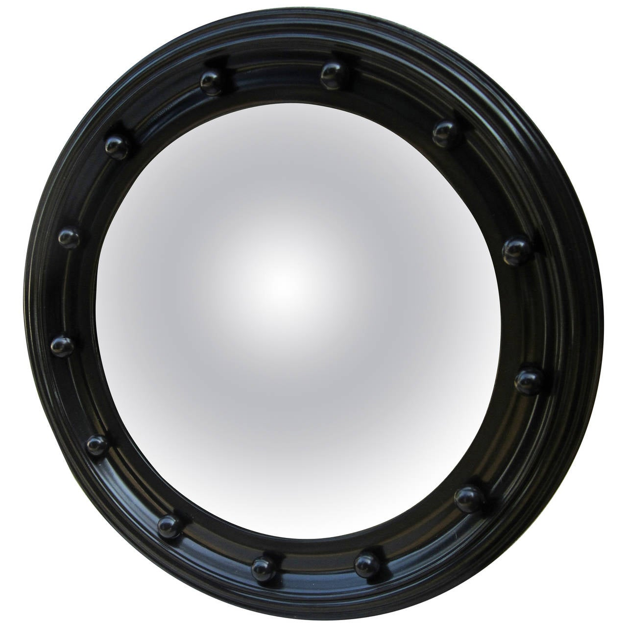 Black framed convex mirror for sale at 1stdibs for Convex mirror