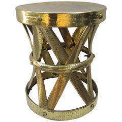 Modern Brass Stool or Table