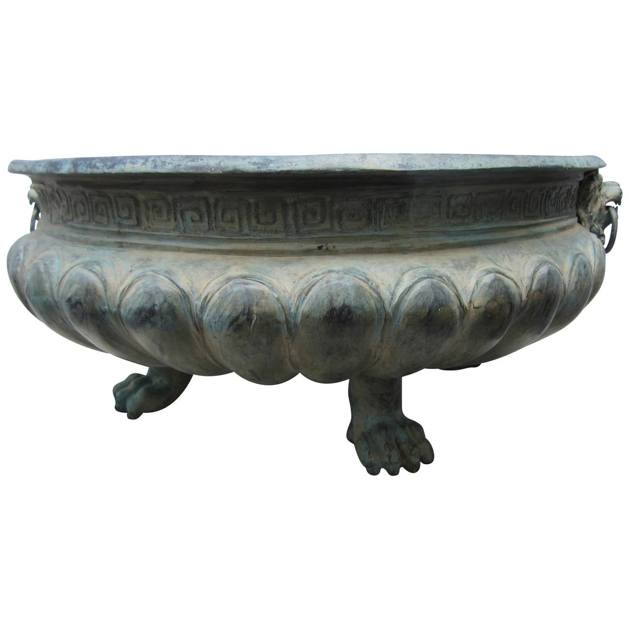 Bronze Planter With Four Reptile Feet At 1stdibs