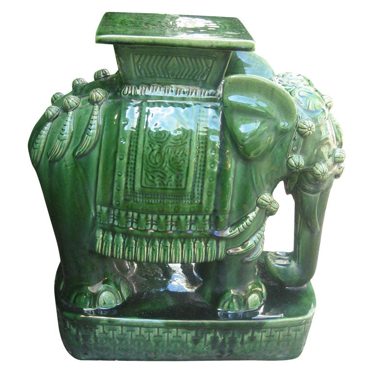Chinese Ceramic Elephant Garden Table At 1stdibs