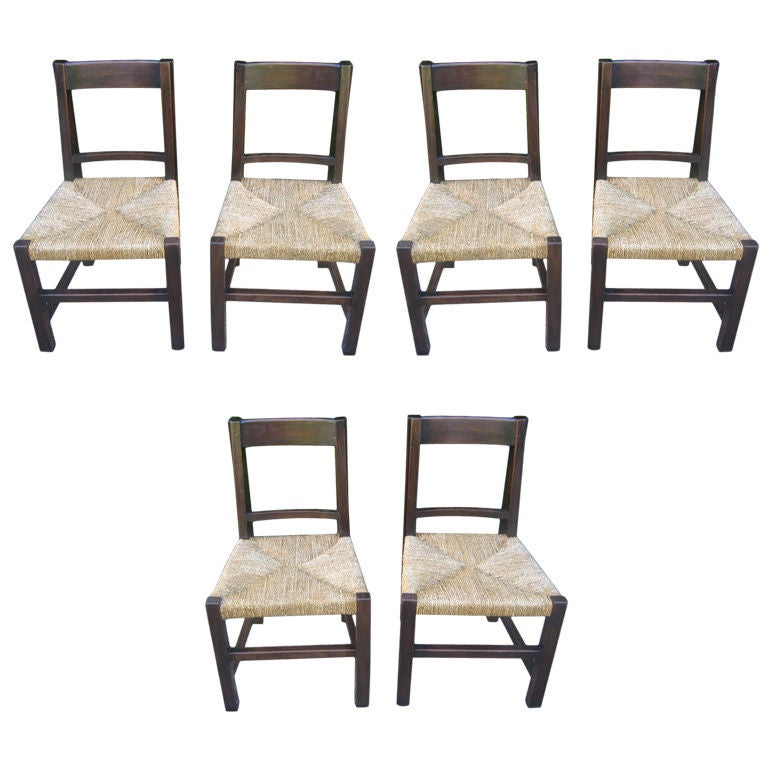 set of 6 spanish modern dining chairs at 1stdibs