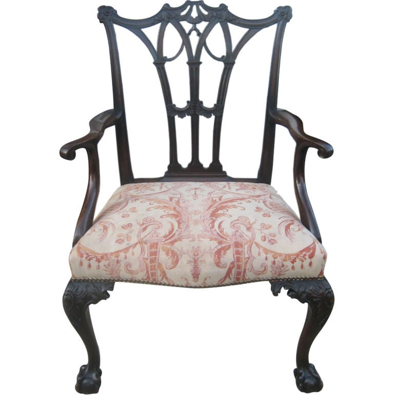Oversized chippendale style armchair at 1stdibs for Oversized armchair