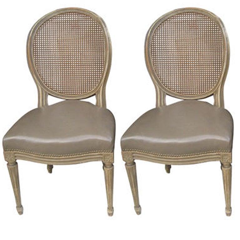 Pair Of Maison Jansen Armless Chairs At 1stdibs