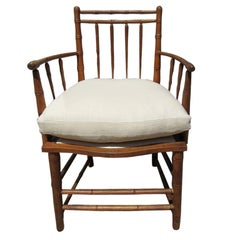 Antique Faux Bamboo Armchair
