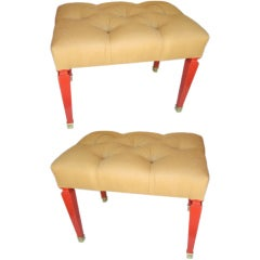 Pair of Upholstered Benches