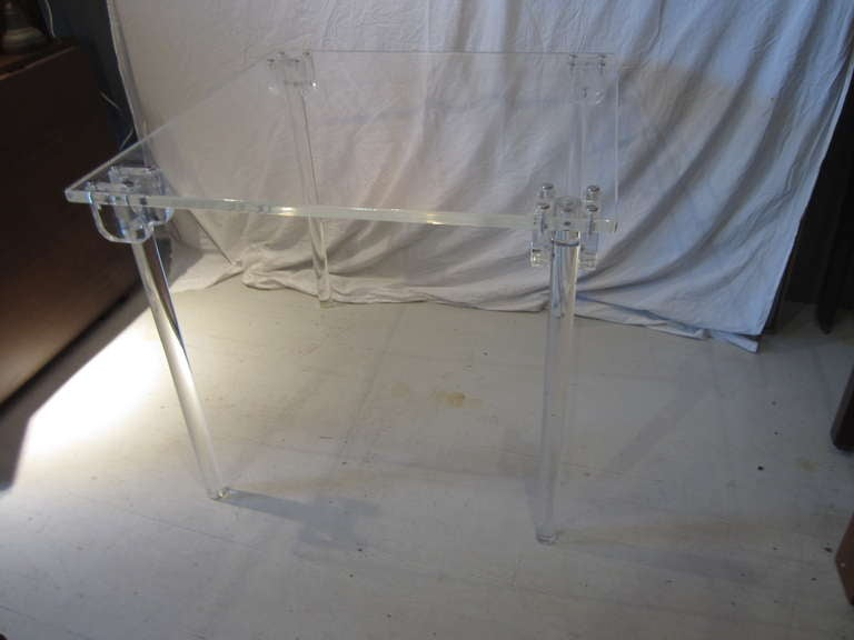 Pair of Lucite Card/Side Tables image 2