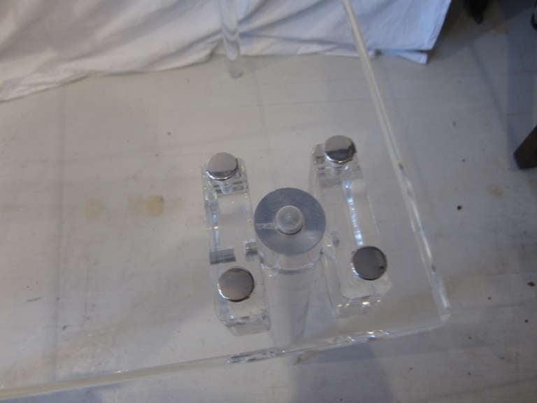 Pair of Lucite Card/Side Tables image 5
