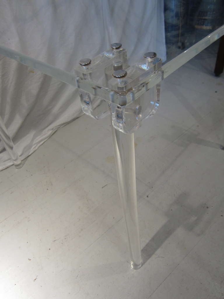 Pair of Lucite Card/Side Tables image 4
