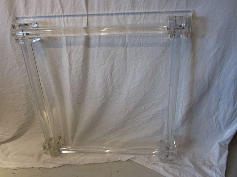 Pair of Lucite Card/Side Tables image 9
