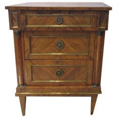 19th Century Italian Fruitwood Nightstand