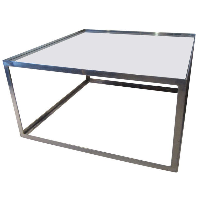 Aluminium and Mirror Coffee Table