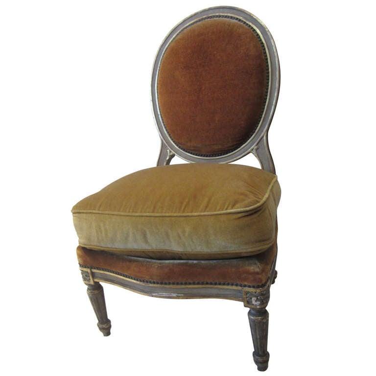 Louis XVI Style Maison Jansen Boudoir Chair At 1stdibs