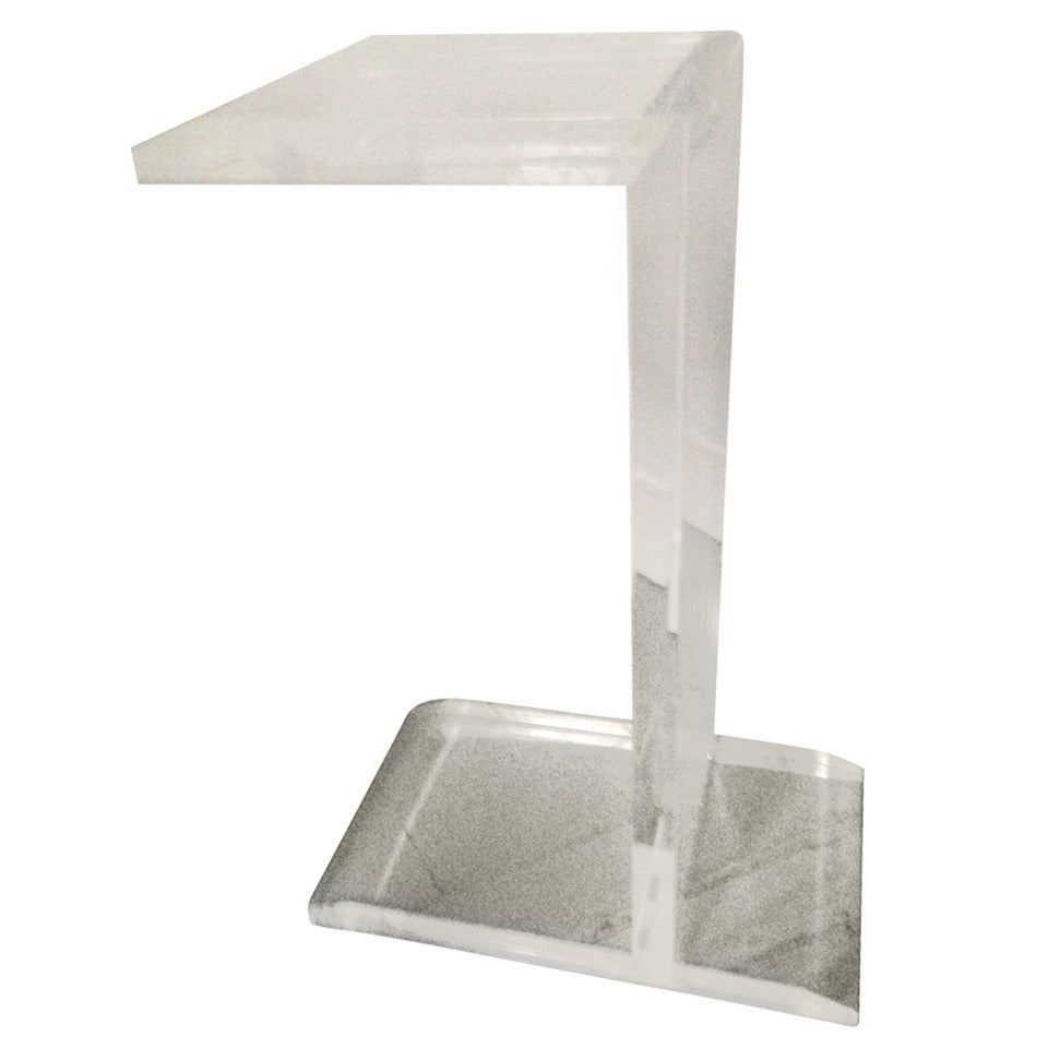 Lucite SIde/Occasional Table For Sale at 1stdibs