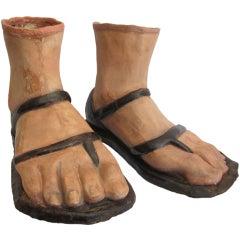 19th Century Papier Mâché Feet
