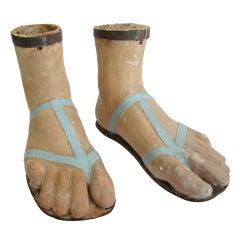 19th Century Papier Mache Feet