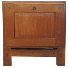 Small Oak Cabinet Attributed to Charlotte Perriand