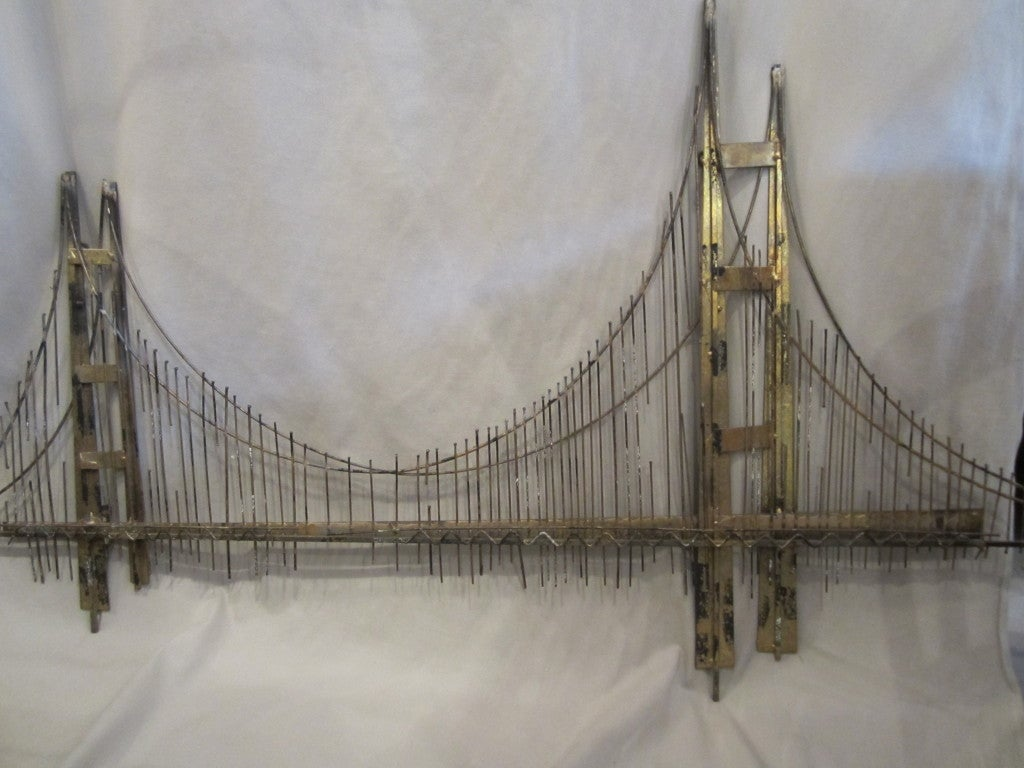 Curtis Jere Wall Sculpture Of Golden Gate Bridge For Sale