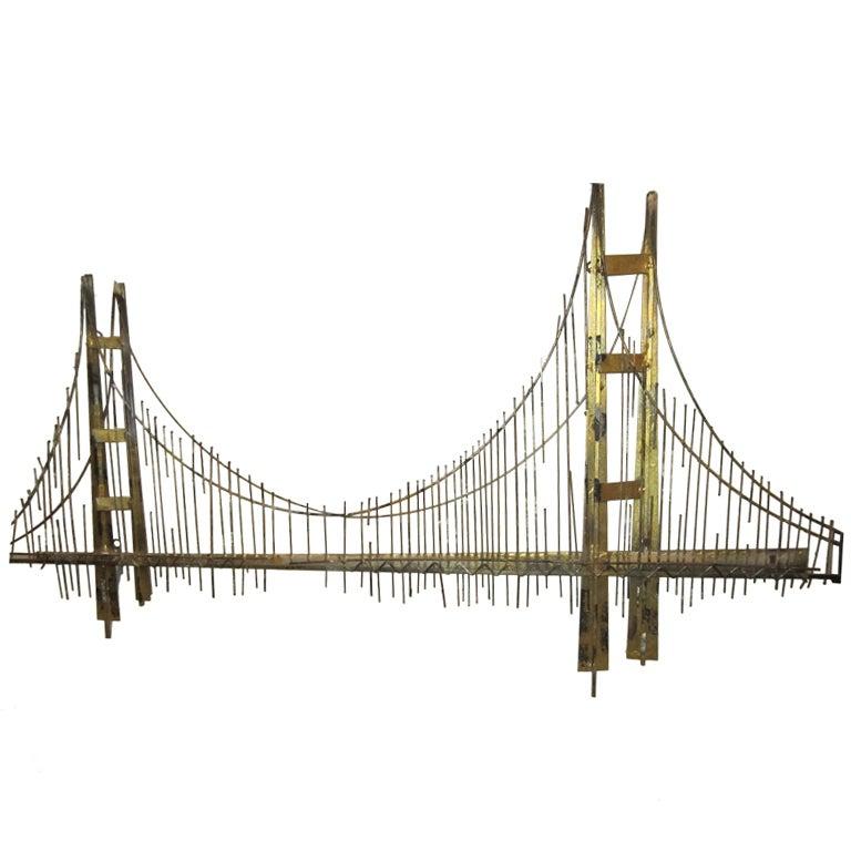 Curtis jere wall sculpture of golden gate bridge at 1stdibs for Golden gate bridge jewelry