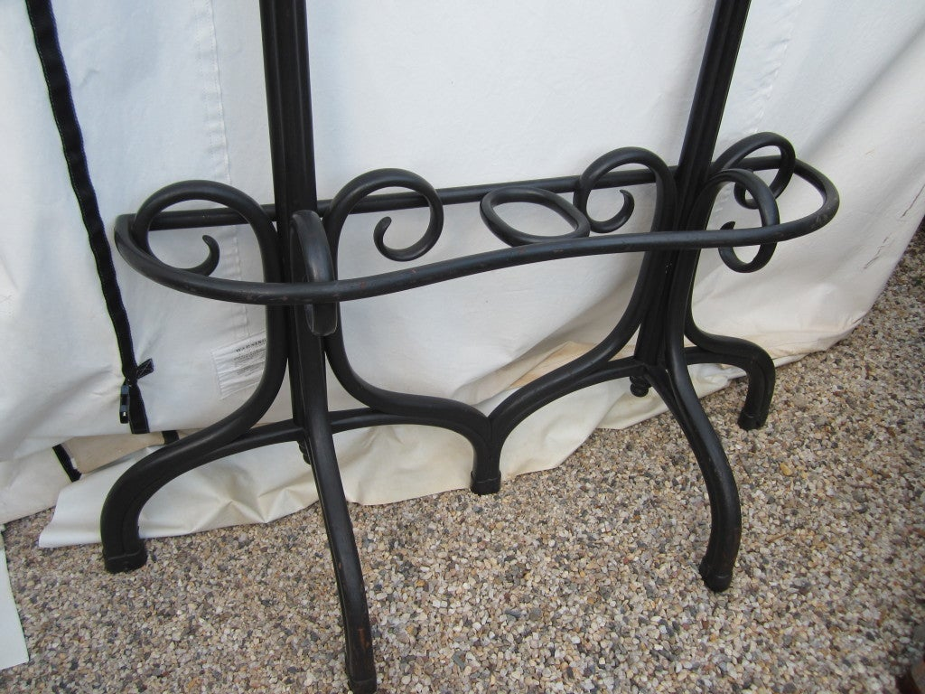 Austrian Thonet Hall Tree with Mirror For Sale