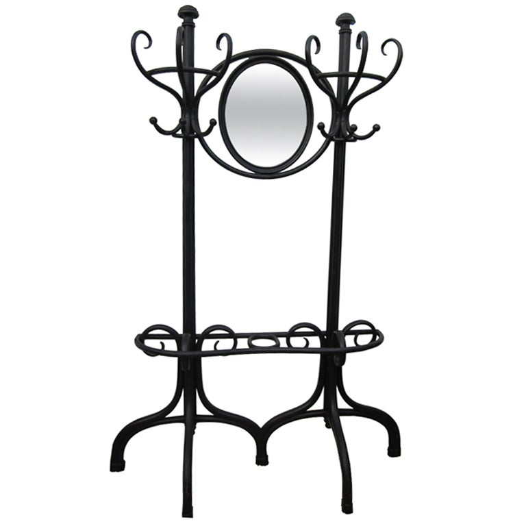 Thonet Hall Tree with Mirror For Sale