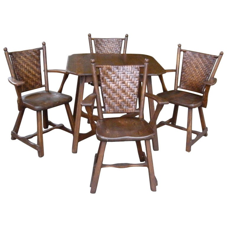 Old Hickory Table And 4 Chairs At 1stdibs