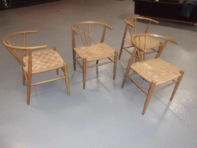 Set Of 4 1960s Chairs By Jorgensens Mobelfabrik Denmark