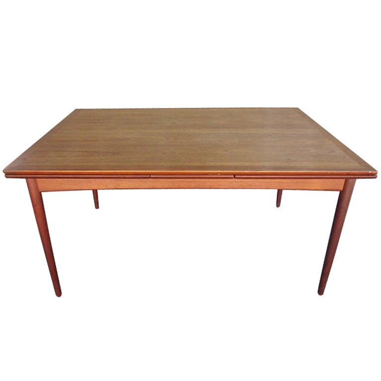 midcentury danish teak dining table france and son at 1stdibs