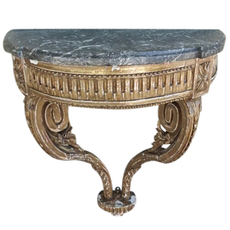 antique louis xvi petite console table at 1stdibs. Black Bedroom Furniture Sets. Home Design Ideas