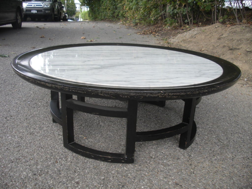 Mid Century Asian Modern Marble Top Coffee Table At 1stdibs