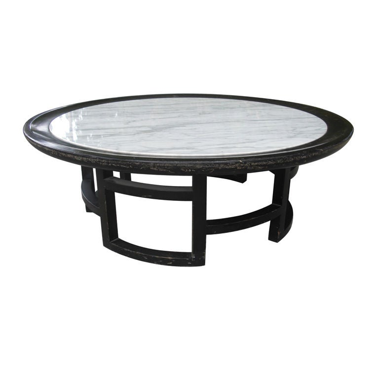 Mid-Century Asian Modern Marble-Top Coffee Table At 1stdibs
