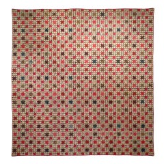 """""""Variable Stars"""" Pieced Antique Quilt."""