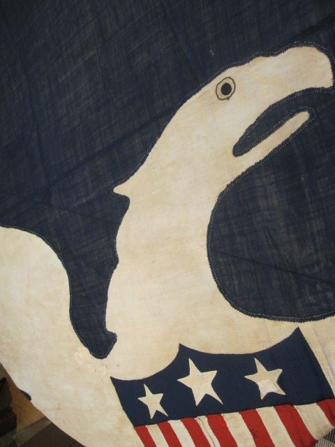 13-Star Eagle American Ship Swallow-Tailed Pennant Flag. For Sale 5
