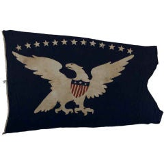 13-Star Eagle American Ship Swallow-Tailed Pennant Flag.