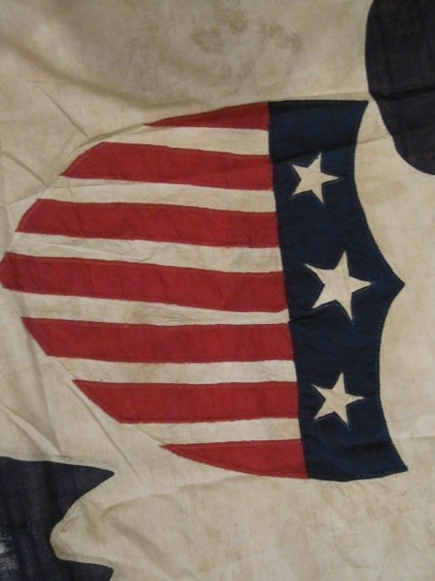 13-Star Eagle American Ship Swallow-Tailed Pennant Flag. For Sale 2