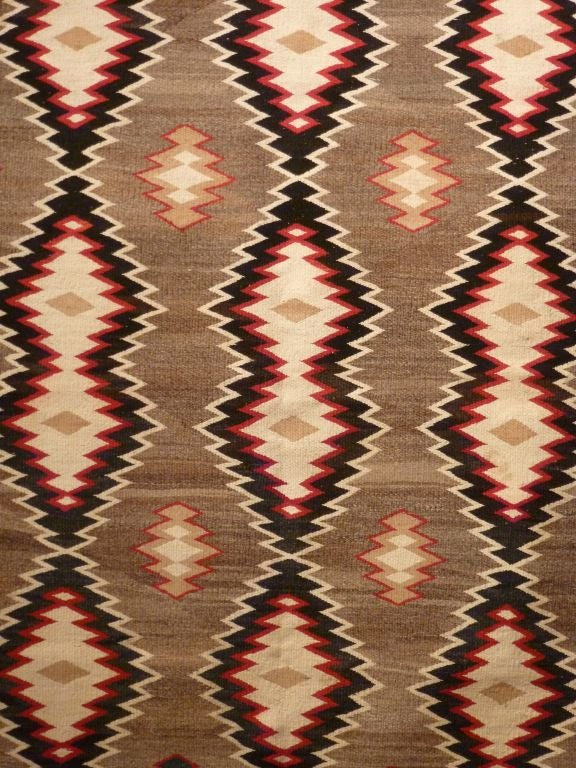 Finely woven Navajo rug.  Probably Ganado. Detailed graphic design.  Excellent condition.  Wonderful size for a wall hanging.
