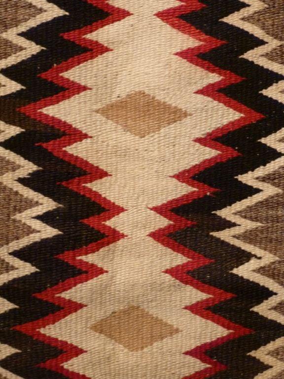 Wool Navajo rug. For Sale
