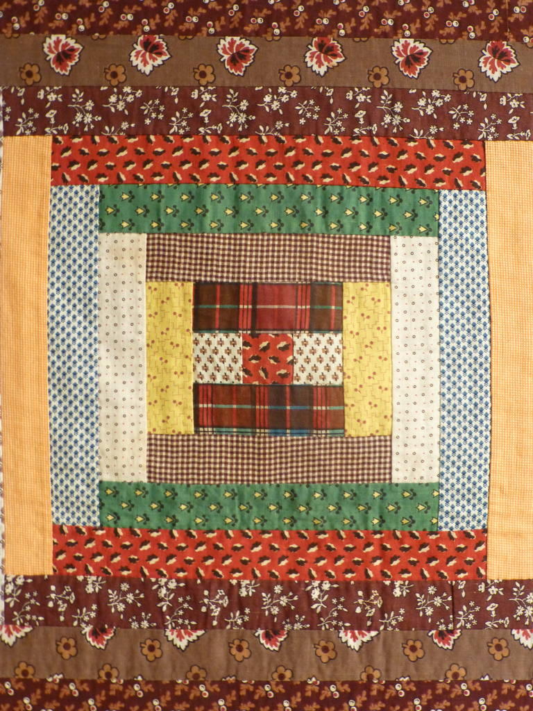 Quot Log Cabin Courthouse Steps Quot Antique Quilt At 1stdibs
