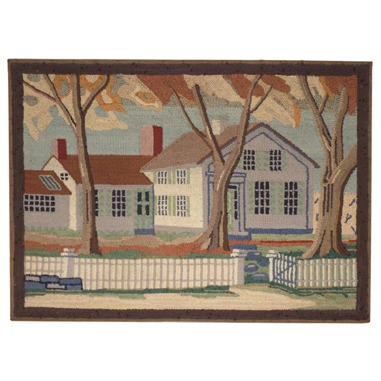 Hooked Rug.  Traditional American Country House. For Sale