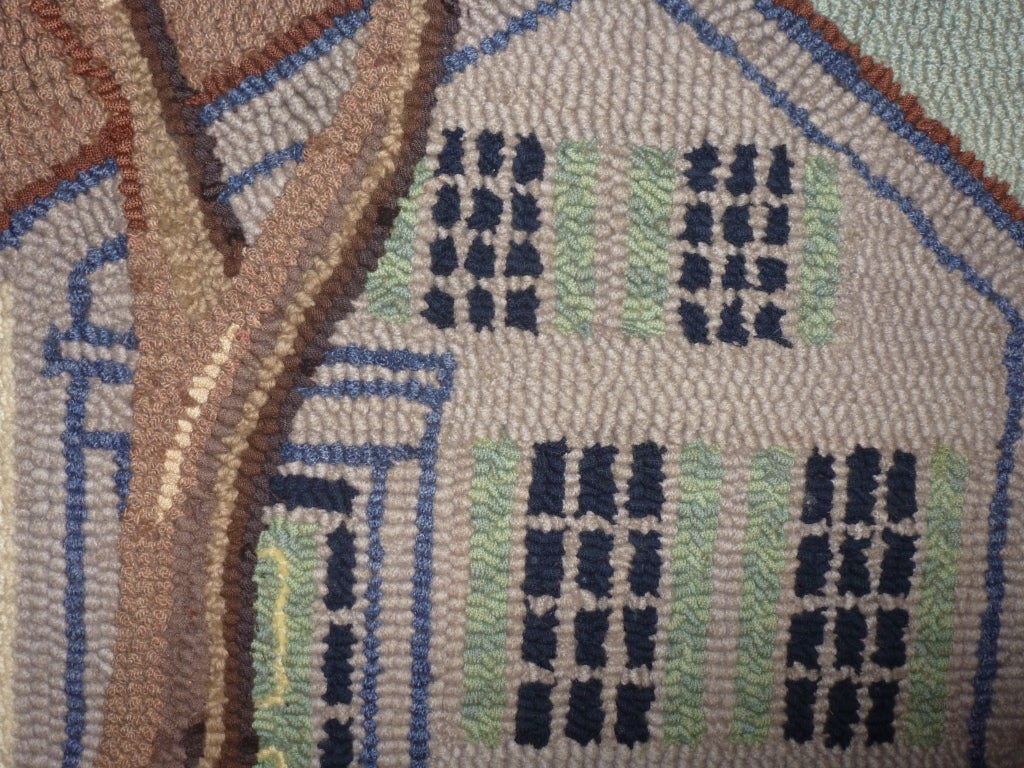 Hooked Rug.  Traditional American Country House. For Sale 1