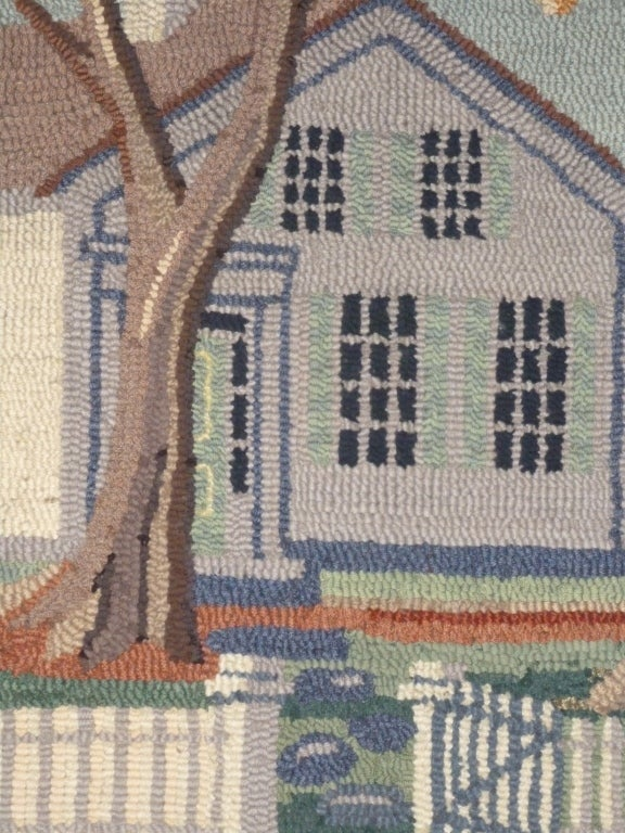 Hooked Rug.  Traditional American Country House. For Sale 2