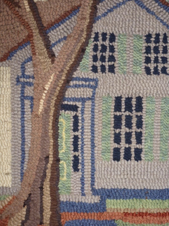 Hooked Rug.  Traditional American Country House. For Sale 3