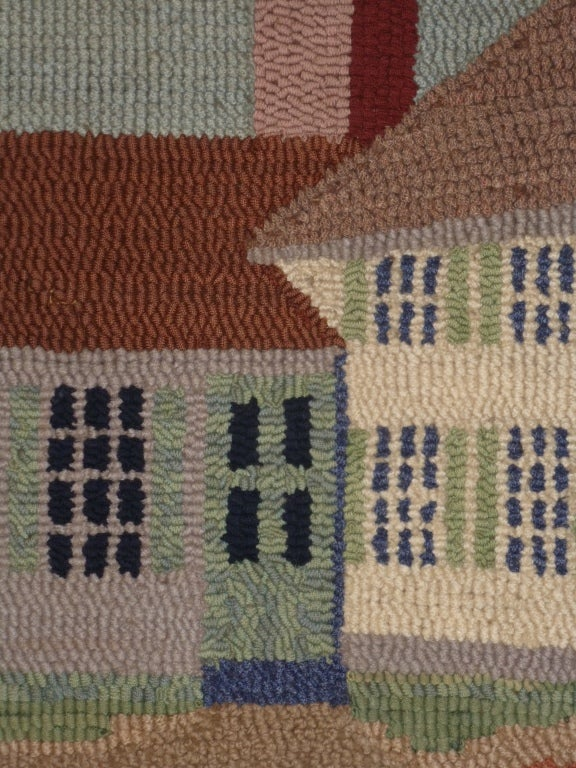 Hooked Rug.  Traditional American Country House. For Sale 4