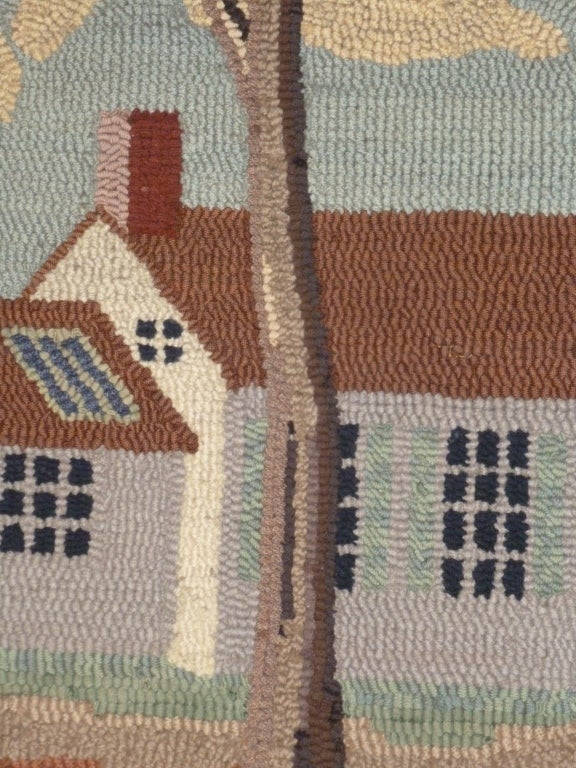 Hooked Rug.  Traditional American Country House. For Sale 5