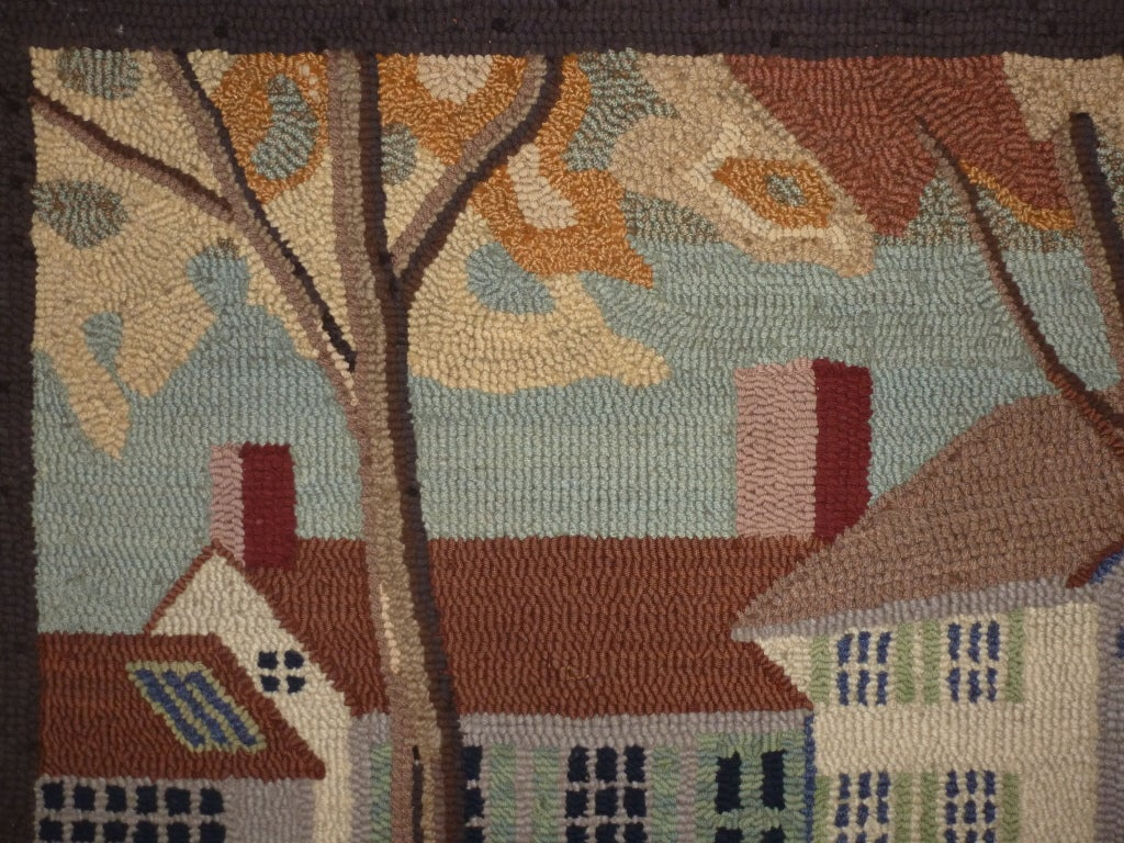 Hooked Rug.  Traditional American Country House. For Sale 6