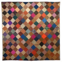 """Log Cabin"" Antique Quilt"