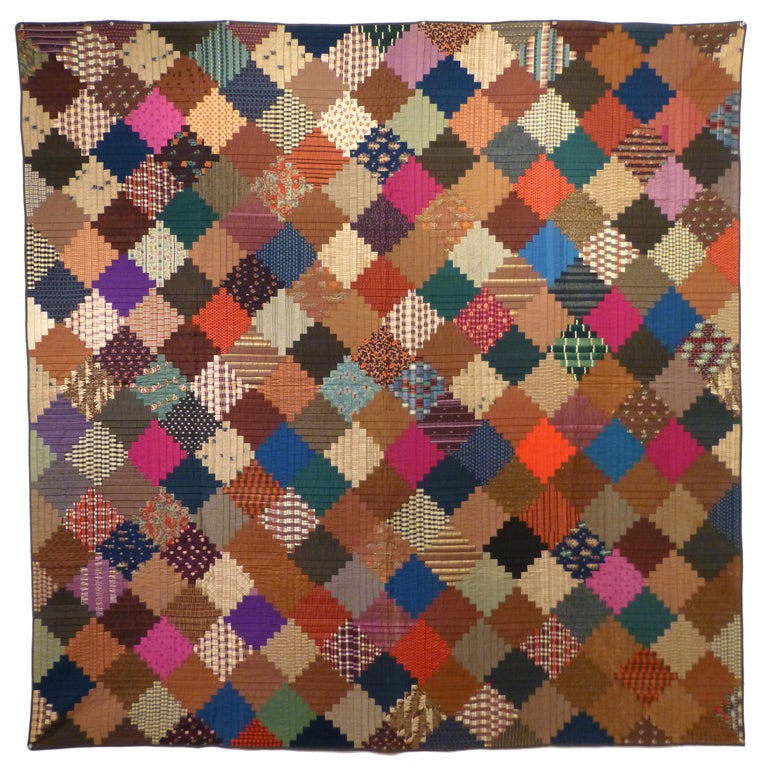 """Log Cabin"" Antique Quilt For Sale"