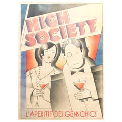"""High Society"" Framed Vintage Poster"