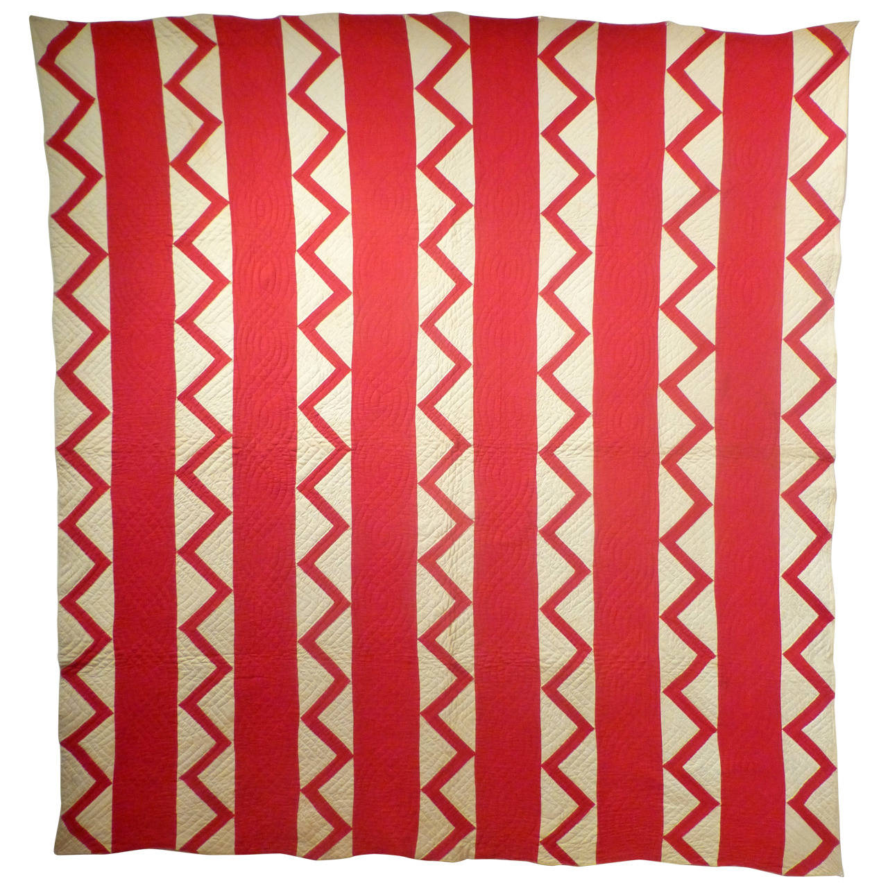 "Antique Quilt ""Bars"" with ""Zig-Zag"""