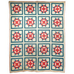 "Antique Quilt ""Crown of Thorns"""